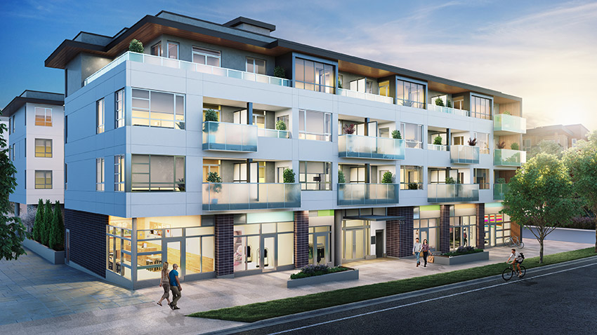 computer rendering of north vancouver complex from across the street