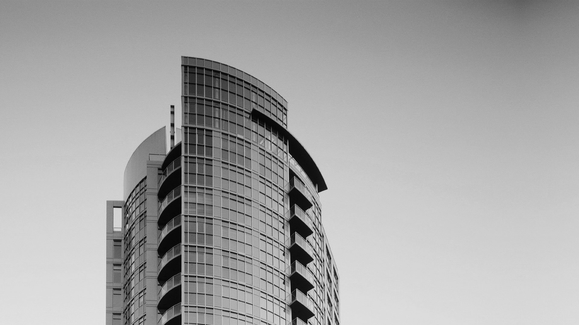 black and white top of vancouver sterling residential highrise