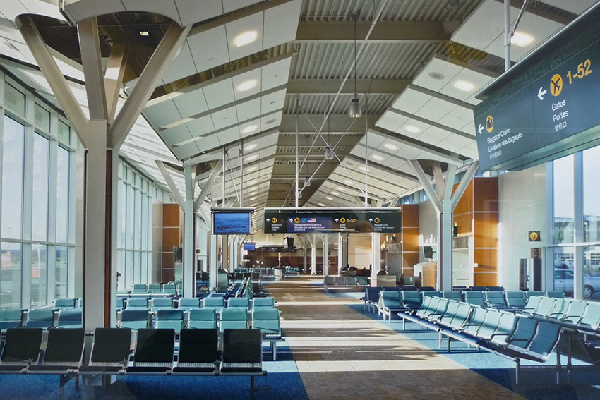 vancouver international airport waiting area architecture