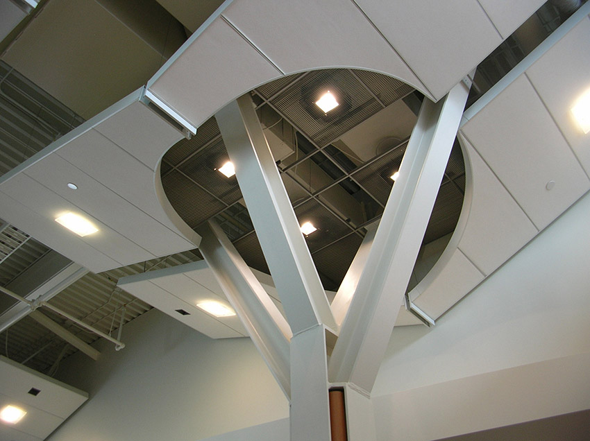 architectural angles of pillar of yvr