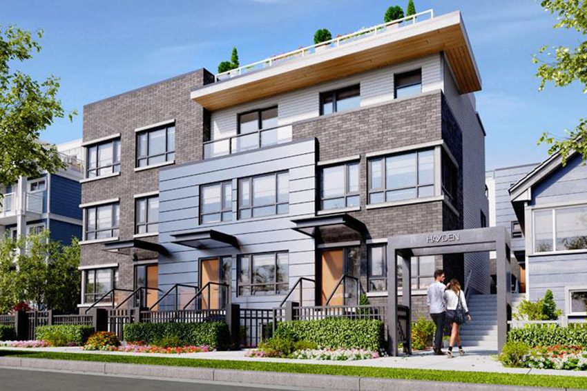 three story residential townhomes vancouver