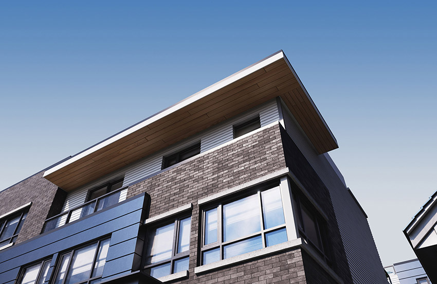 top corner angle showing clean architectural lines