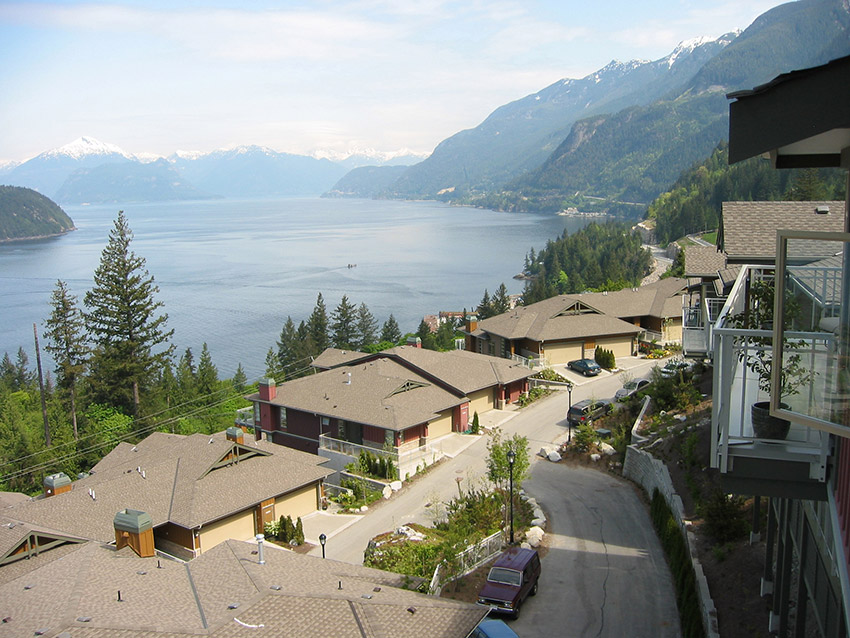 view of howe sound from west vancouver luxury townhome