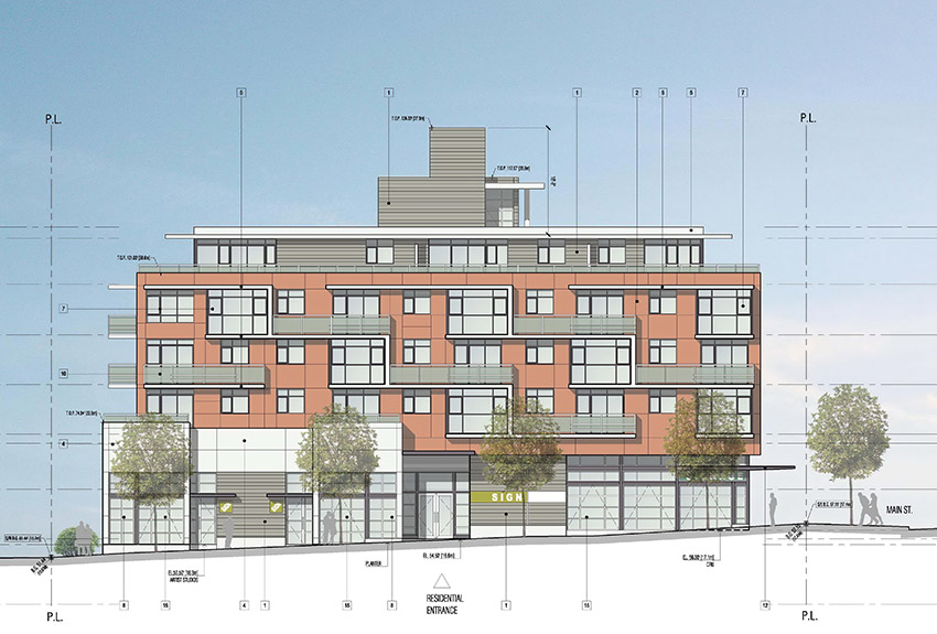second view of main and 4th residence architect notes