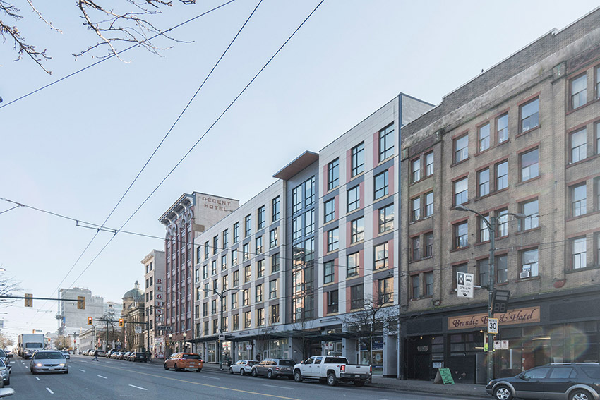 hastings street architecture in situ with surrounding building vancouver