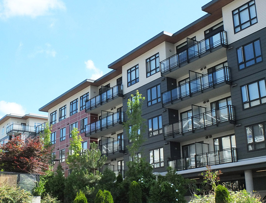 large residential complex showing balconies and landscaping