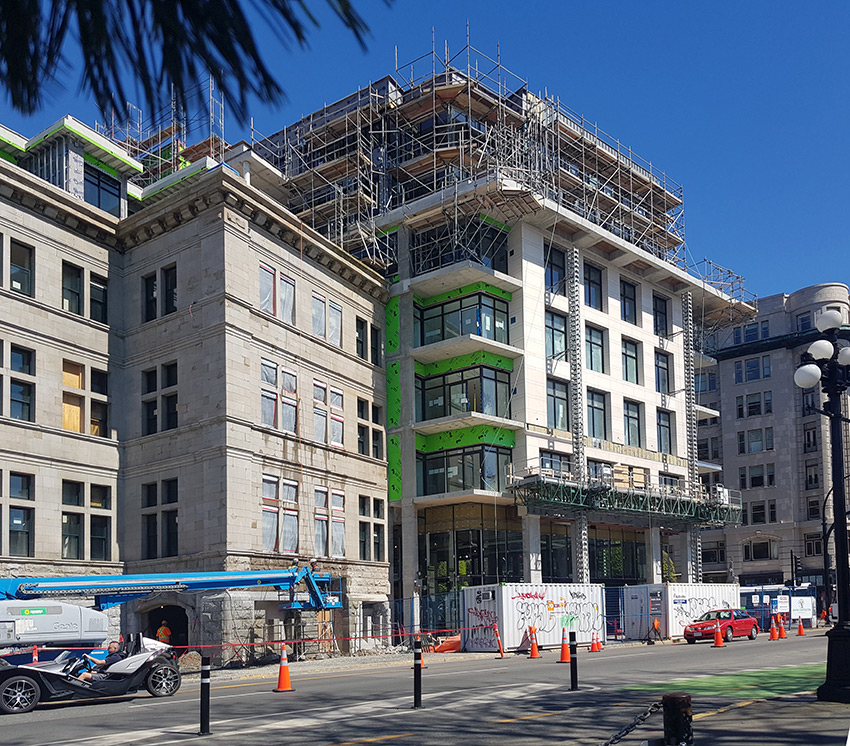 customs house being renovated in upper floors of victoria architecture